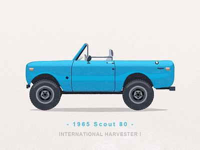 1965 Scout 80 truck watercolor illustration iconography icon sandor car suv international harvester scout scout scout 80 international harvester