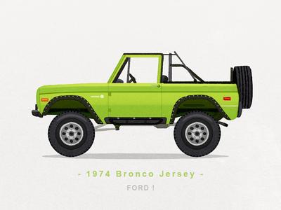 1974 Bronco Jersey
