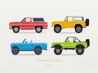 Classical Car truck classical car suv car sandor icon iconography illustration watercolor bronco ford ford bronco