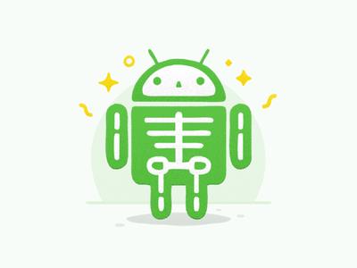 Android Skeleton google android robot robot bone outline line illustration iconography icon sandor skeleton android