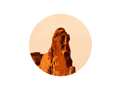 Rock yellowstone mountain peak mountain peak illustration iconography icon sandor sky rock landscape natural
