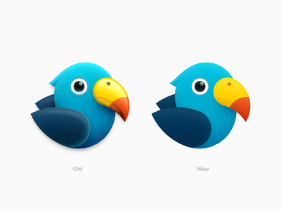 Parrot Icon - New wing macaw beak ux icon ui icon user interface icon skeu skeuomorph skeuomorphism mac icon macos icon osx icon app icon updated realistic bird logo parrot sandor