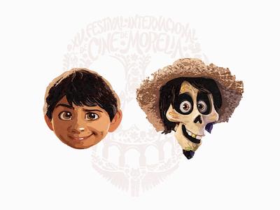 """Pixar """"COCO"""" pixarcoco painting film movie coco sandor illustration pixar"""