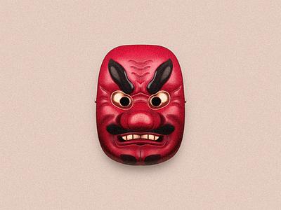 Japanese Mask ghost monster incubus afreet cacodemon daemon demon illustration mask japanese japanese mask sandor