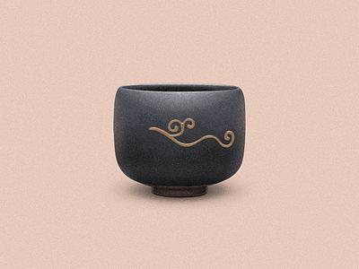 Japanese Tea Cup wabi-sabi japanese bowl tea cup burning porcelain illustration ceramics sandor tea cup bowl japan japanese