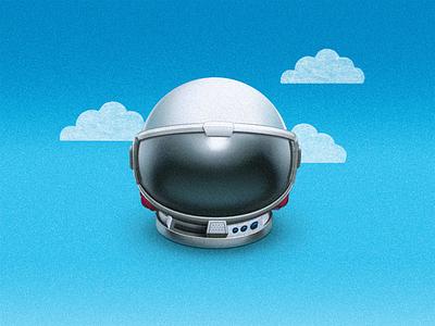 Wonder cosmonaut cloud spacesuit fold astronaut helmet space space helmet sandor movie illustration wonder