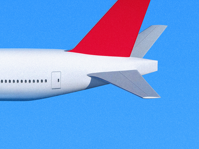 Airliner Tail window sandor fly airliner aircraft air bluesky sky plane airplane illustration tail