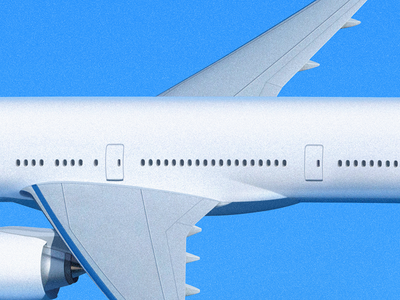 Airliner Middle window sandor fly airliner aircraft air bluesky sky plane airplane illustration middle