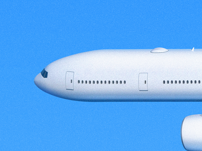 Airliner Head window sandor fly airliner aircraft air bluesky sky plane airplane illustration head