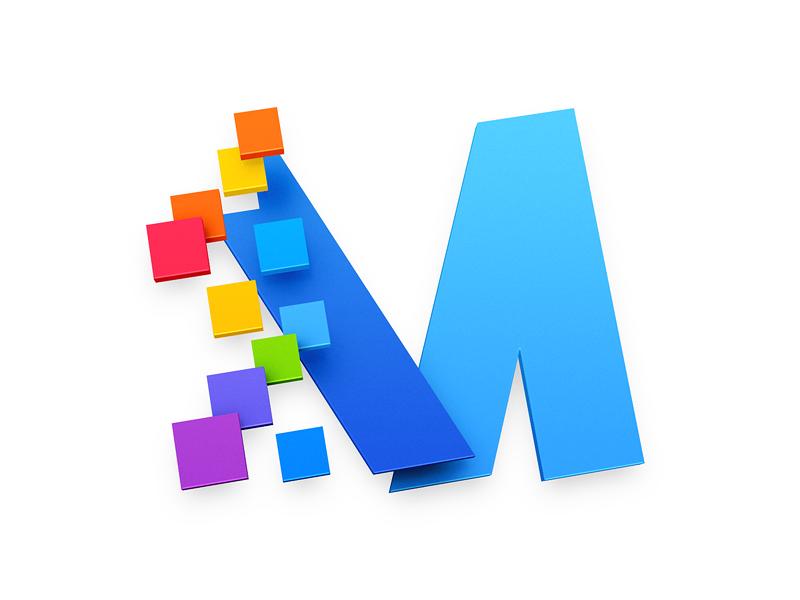 """""""M"""" Icon app iphone icon os icon app icon ios icon mac os icon macos icon mac icon osx icon m icon realistic m logo logo sandor icon"""