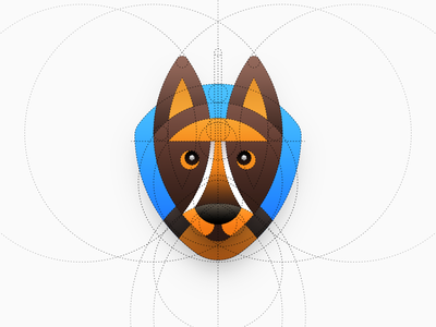 Shepherd Logo os icon app icon ios icon mac os icon macos icon mac icon osx icon dog dog logo shepherd german shepherd logo construction iconography illustration sandor circle icon stripes