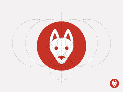 Shepherd Logo 2 dog dog logo stripes icon circle sandor illustration iconography construction logo german shepherd shepherd