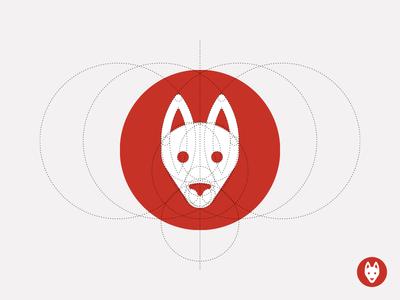 Shepherd Logo 2 dog dog logo stripes icon circle sandor illustration iconography construction logo german shepherd shepherd