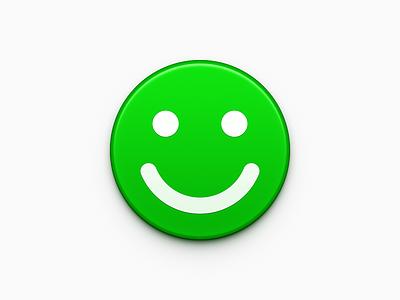 Green Smile app iphone icon os icon app icon ios icon mac os icon macos icon mac icon osx icon environmental realistic icon sandor smile green green smile