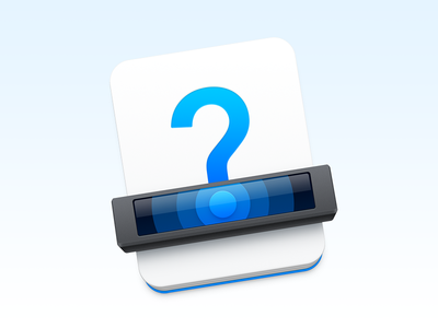 """Guesswork"" Icon documentation question mark scanning scanner ux icon ui icon user interface icon skeu skeuomorph skeuomorphism mac icon macos icon osx icon app icon guess sandor logo realistic guesswork"