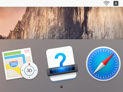 """Guesswork"" Icon scanner scanning question mark dock icon documentation ux icon ui icon user interface icon skeu skeuomorph skeuomorphism mac icon macos icon osx icon guesswork app icon realistic logo sandor guess"