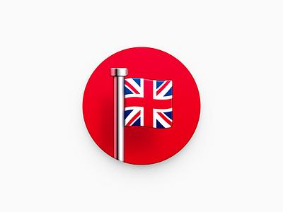 British Flag ux icon ui icon user interface icon skeu skeuomorph skeuomorphism mac icon macos icon osx icon realistic app icon sandor england britain united kingdom flag british british flag