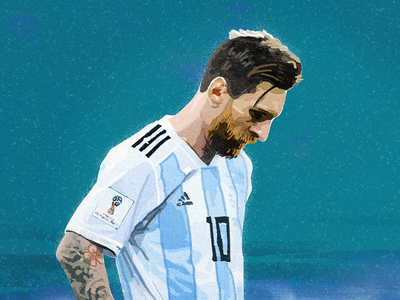 Messi sandor ball goals sport watercolor painting worldcup football argentina 2018worldcup illustration messi