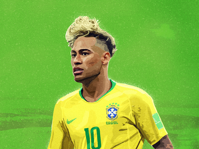 Neymar neymar illustration 2018worldcup brazil football worldcup painting watercolor sport goals ball sandor
