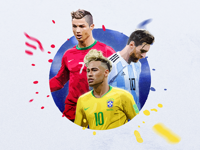 Football Star cristiano illustration 2018worldcup neymar football worldcup painting watercolor sport goals messi sandor