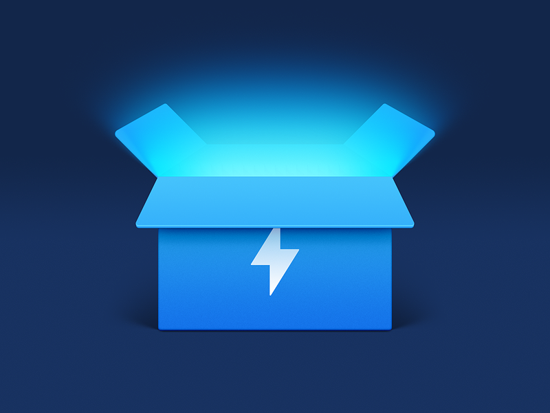 Energy Box app iphone icon realistic os icon icon ios icon mac os icon macos icon mac icon osx icon app icon thunder lightning sandor capability power box energy energy box