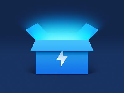 Energy Box ux icon ui icon user interface icon skeu skeuomorph skeuomorphism mac icon macos icon osx icon realistic app icon thunder lightning sandor capability power energy box