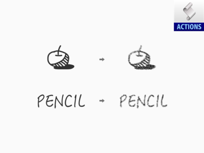 Pencil PS Action (Free Download) brush sketch pencil effect photoshop action sandor download free free download atn action ps action pencil