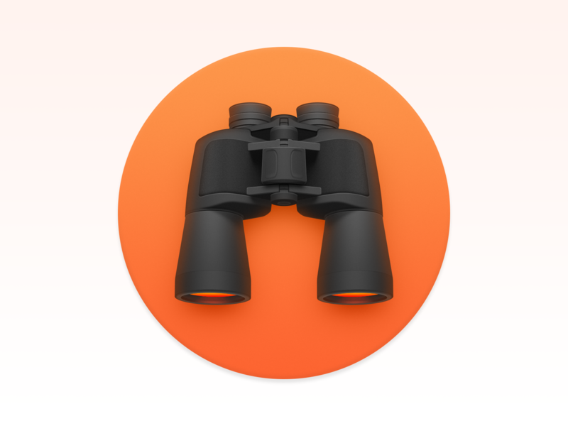 ProFind app iphone icon os icon ios icon mac os icon glasses find telescope binoculars profind realistic app icon icon macos icon mac icon osx icon sandor