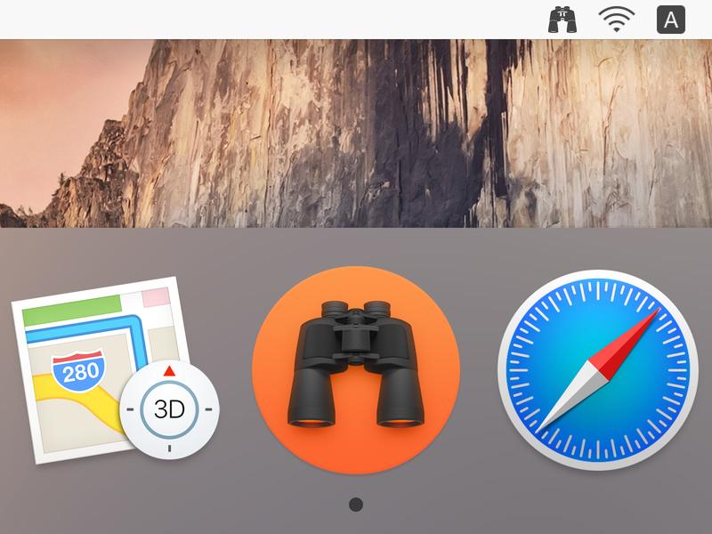 ProFind (Dock & Menubar) app iphone icon os icon mac os icon ios icon telescope sandor realistic profind osx icon macos icon mac icon icon find binoculars app icon