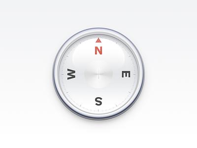 Compass Icon ux icon ui icon user interface icon skeu skeuomorph skeuomorphism mac icon macos icon osx icon realistic smartisan icon pointer smartisan sandor needle metal app icon compass