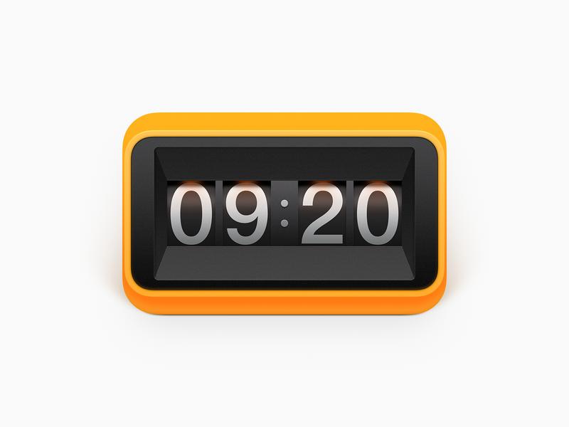 Clock iphone icon ios icon flip clock timer time alarm clock realistic os icon app app icon icon mac os icon macos icon mac icon osx icon sandor