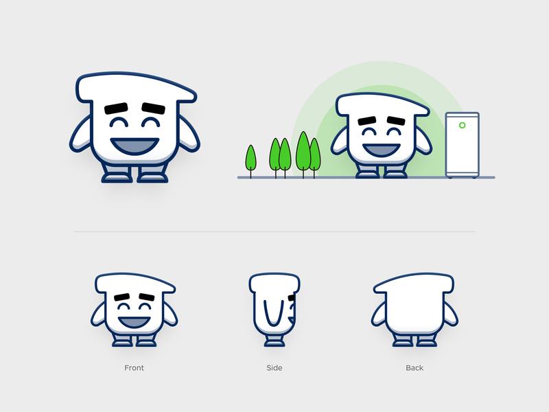 Smartisan Mascot Draft expression character doll mascot smartisan pet sandor outline line illustration iconography icon