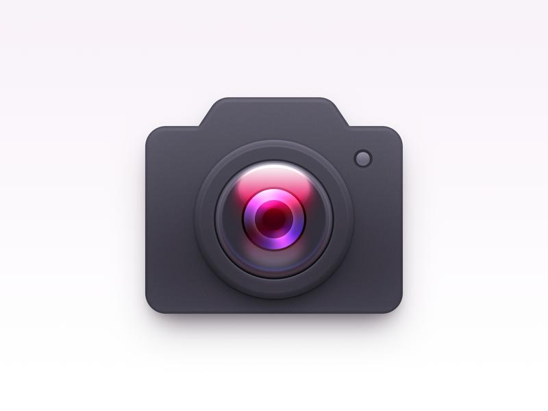 Camera Icon ux icon ui icon user interface icon skeu skeuomorph skeuomorphism mac icon macos icon osx icon camera lens lens sandor realistic camera icon camera app icon