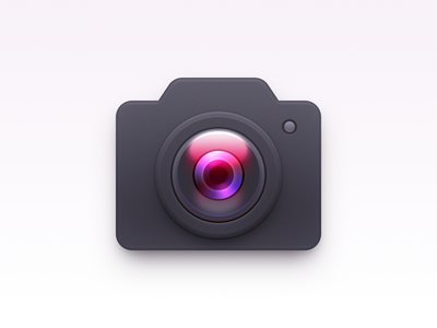 Camera Icon ux icon ui icon user interface icon skeu skeuomorph skeuomorphism mac icon macos icon osx icon camera lens lens sandor realistic camera icon camera app icon