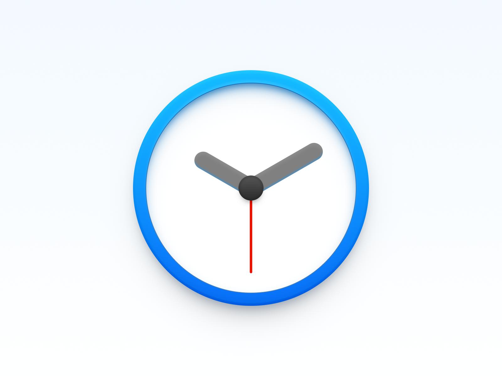 Clock Icon sandor realistic osx icon os icon macos icon mac os icon mac icon timer icon time clock icon clock app icon app