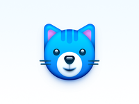 Cat app realistic os icon app icon icon mac os icon macos icon mac icon osx icon lovely cute animal cartoon sandor illustration character kitten cat