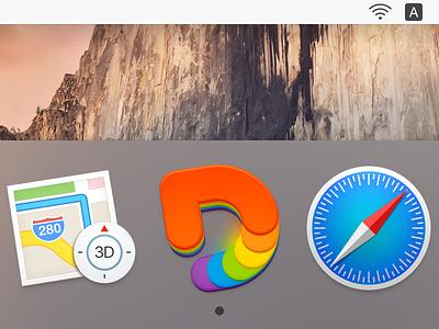 """D"" Icon rainbow color ux icon ui icon user interface icon skeu skeuomorph skeuomorphism mac icon macos icon osx icon dock icon mac dock app icon d icon realistic d logo logo sandor"