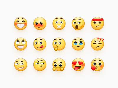 Bmoji Draft message kiss love cry angry smile emoticon expression character emotion icon sandor emoji bmoji