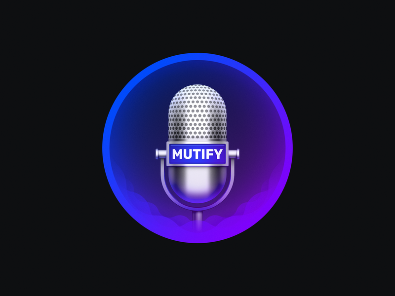 Mutify wave sound wave microphone mute mutify sandor osx icon mac icon macos icon icon app icon realistic mac os icon ios icon os icon iphone icon app