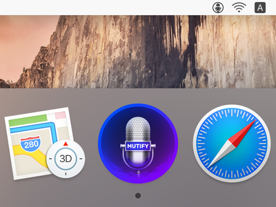 Mutify (Dock & Menubar) ux icon ui icon user interface icon skeu skeuomorph skeuomorphism mac icon macos icon osx icon dock icon realistic app icon sandor mutify mute microphone sound wave wave