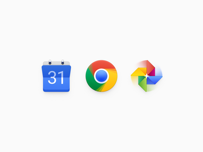 Google Icons google icon ux icon ui icon user interface icon skeu skeuomorph skeuomorphism mac icon macos icon osx icon google album google calendar google chrome windmill album calendar chrome smartisan sandor realistic app icon