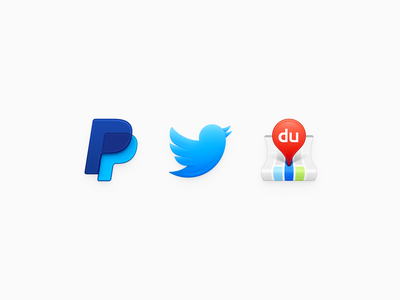 Icons ux icon ui icon user interface icon skeu skeuomorph skeuomorphism mac icon macos icon osx icon bird twitter paypal baidu map map smartisan sandor realistic app icon