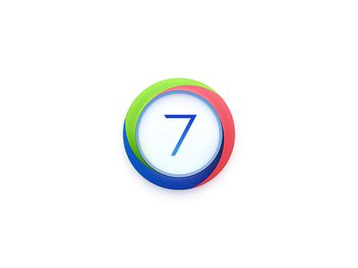 OS7 Icon Draft ux icon ui icon user interface icon skeu skeuomorph skeuomorphism mac icon macos icon osx icon 7 icon 7 logo version icon mixing whirl vortex smartisan sandor realistic app icon