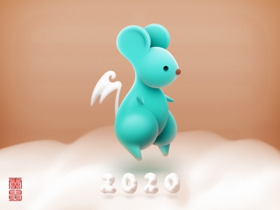 Wallpaper for 2020 Year of the Rat 灵鼠 spirit mouse elf rat spirit rat cloud character download free smartisan os icon icon realistic chinese new year mouse happy new year 2020 year 2020 illuatration sandor rat wallpaper