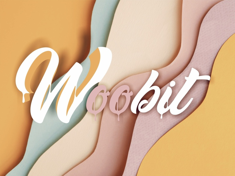 Multi-Woobit typography minimal branding ilustrator design love creamery photoshop logotype paper shadow illustrator cream logo