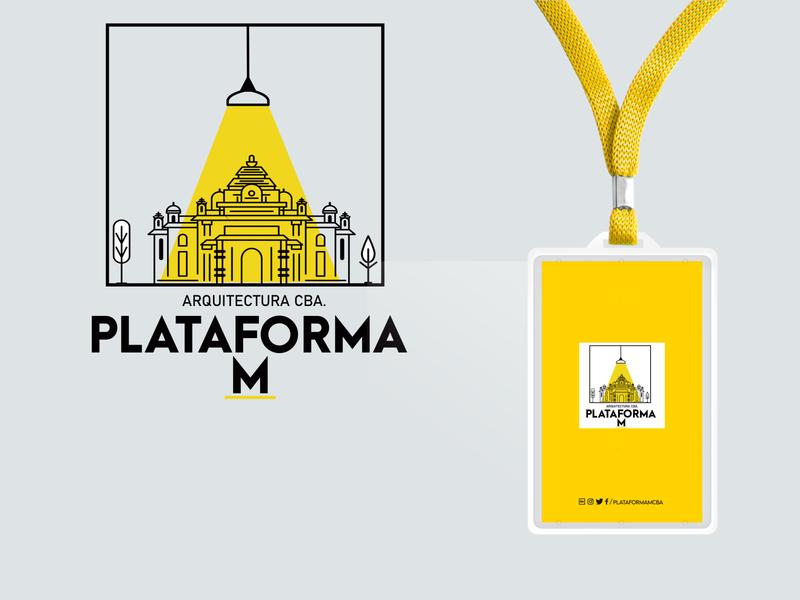 Logo para plataforma M design branding designer illustrator argentina arquitetura mockup vector photoshop brand yellow minimal logo arquitecture