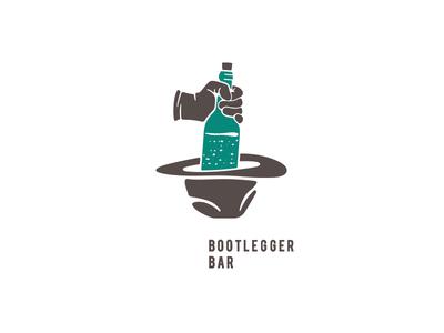Bootlegger bar logo vector bar logo