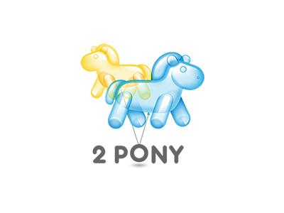 sketch two pony logo sketch