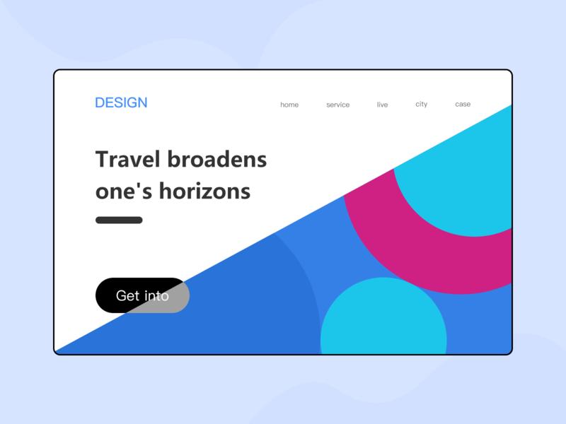 Web Design web design 冷色调 ui 设计