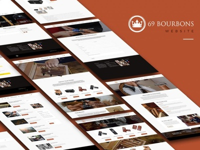 69 Bourbons Website web design web development web accessories cigars cigar